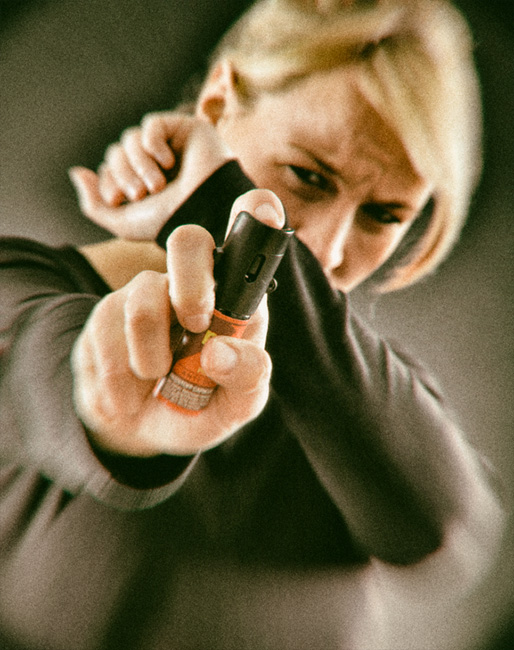 Selbstverteidigung mit Pfefferspray - Dekontamination